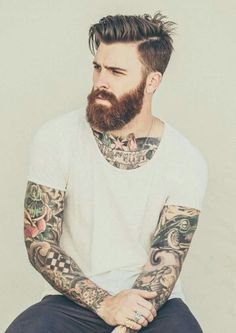 Männer frisuren 10 Bold & Unique BART Plus tattoo styles for men // # for # men Ju Beard Styles For Men, Hair And Beard Styles, Hair Style Men, Men Hair Styles, Hipster Bart, Bart Tattoo, Mens Beard Grooming, Men Beard, Epic Beard