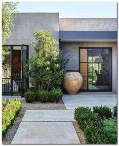45 Fresh and Beautiful Front Yard Landscaping Ideas Low Maintenance - Baustil Modern Landscape Design, Modern Garden Design, Modern Patio, Patio Design, House Design, Modern Design, Terrace Design, Terraced Landscaping, Modern Landscaping