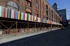 Love the chromatic construction fence