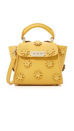 ZAC Zac Posen Embellished Eartha Top Handle Mini Bag Yellow has become such a popular color it's almost a neutral.