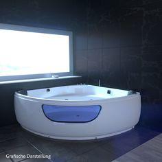 Whirlpool Badewanne Eckbadewanne Eckwhirlpool Mit LED, Heizung, Radio,  Vollaust. | Eckbadewanen | Pinterest | EBay And House