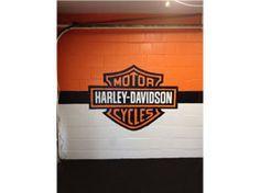 Garage Mural    Harley Davidson Mural On Interior Garage Wall Of Clientu0027s  Manu2026 Part 25