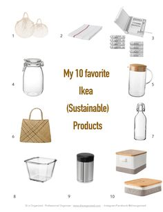 Di Ter Avest, Professional Organizer and owner of Di is Organized, shares her 10 favorite IKEA sustainable products for a eco-friendly home. Sustainable Products, Sustainable Living, Zero Waste, Eco Friendly House, Eco Friendly Cars, Safe Glass, Clean Living, Sustainability, Natural Living