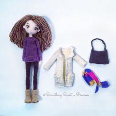 Jojo and her accessories ~❤️ #amigurumi #embroidery #anime