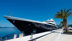 The Largest Superyacht Berth in the World Opens in Montenegro. #Superyacht #Luxury #Montenegro