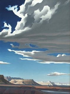 First piece I've found in mostly Blues by Ed Mell (b1942 USA artist, printmaker)