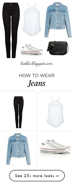 """White Converse - Jean Jacket - Black Skinny Jeans - White Tank Top - Casual Outfit"" Follow Me ❤ @KatieMSpears"