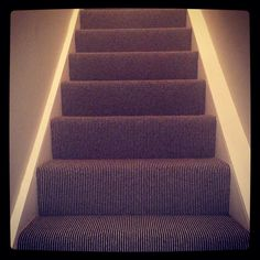 Whitestone Weavers Belgravia Deco stripe carpet. Striped Carpets, Home And Family, Stairs, Home Decor, Stairway, Decoration Home, Striped Rug, Staircases, Room Decor