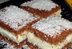 Fast and juicy coconut cake Greek Sweets, Greek Desserts, Greek Recipes, Sweets Cake, Cupcake Cakes, Sweets Recipes, Cookie Recipes, Kolaci I Torte, Romanian Food