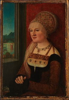 The Brustfleck in 16th Century German Dress... Look at the head dress!!  Ooooo!!!