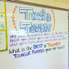 Did this to introduce alliteration with my students. They totally got it! Teaching Tools, Teaching Resources, Teaching Ideas, Morning Board, Morning Activities, Daily Writing Prompts, Bell Work, Responsive Classroom, Classroom Activities