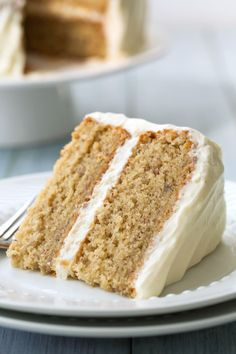 A double layered, moist and flavorful banana cake topped with rich and luscious, fluffy cream cheese frosting. It's the perfect use for those overripe bananas sitting on the counter. Everyone will love this cake!