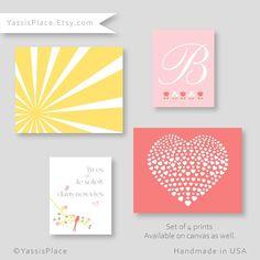 You are the sun in our lives Nursery Art @yassisplace #etsy #etsylove #heart #interiordecor #instafollow #coralandpink #sunshine #babygirl #baby #playroom #present #babyshower #initial #customnurseryart