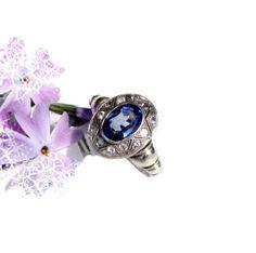 Verspielter antiker Ring aus Silber