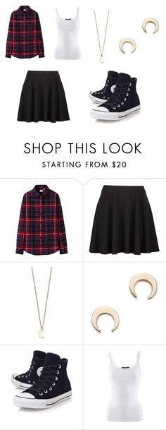 """""""Flannel Fun"""" by lokisqueen14 ❤ liked on Polyvore featuring Uniqlo, Minor Obsessions, Ginette NY, Converse, Ralph Lauren and BoyfriendShirt"""