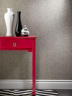 philip jeff. herringbone wallpaper gray