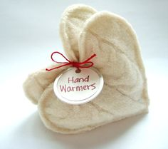 Hand Warmers ~ I need to make some of these for this winter ~ made from felted wool or fleece and filled with rice (just warm in microwave for 30 seconds)