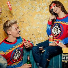 Woman Knitwear and Sweaters wonder woman ugly sweater Couples Christmas Sweaters, Couple Christmas, Cute Christmas Sweater, Christmas Jumpers, Ugly Sweater, Being Ugly, Knitwear, Wonder Woman, The Incredibles