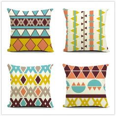 Newest Home Decorative Sofa Bed Cushion Throw Pillow Geometric Cotton Linen Square Letter Cushion Cojines Almofadas. Subcategory: Home Textile. Bed Cushions, Sofa Bed, Throw Pillows, Linen Fabric, Cotton Linen, Letter Cushion, Bohemian Living Rooms, Home Textile, Cushion Covers