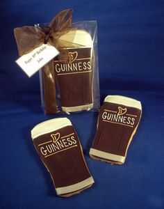 Guinness Beer Glasses Iced Decorated Sugar Cookies