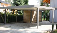 standalone steel and wood carports