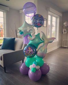 Mermaid Theme Birthday, Unicorn Birthday Parties, Birthday Balloons, Frozen Party Decorations, Birthday Party Decorations, Balloon Bouquet, Balloon Garland, Mermaid Balloons, Birthday Goals