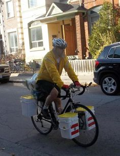 Bike Buckets: An inexpensive pannier system you can make