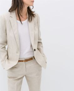Image 5 of LINEN BLAZER from Zara