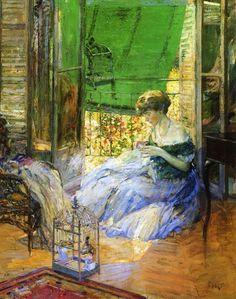 ~Richard E. Miller ~ American Impressionist artist, 1875-1943: Spring (also…