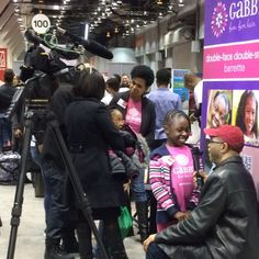 With media at Black Women's Expo in Chicago