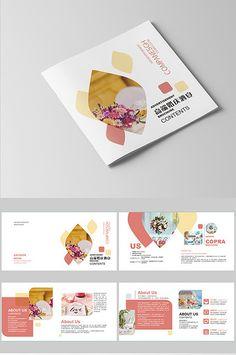 High-end wedding banquet Brochure Magazine Layout Design, Book Design Layout, Menu Design, Flyer Design, Design Design, Graphic Design, Corporate Brochure Design, Company Brochure, Brochure Layout