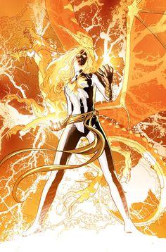 Hope Summers Phoenix by Mike Deodato Jr, colors by Rain Beredo Comic Book Artists, Comic Book Characters, Marvel Characters, Comic Character, Comic Books Art, Comic Artist, Marvel Comics, Comics Anime, Marvel Heroes