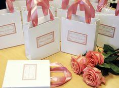 Elegant Custom Wedding Welcome Bags with satin by WeddingUkraine