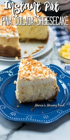 Do you like Pina Coladas? If you do this Instant Pot Pina Colada Cheesecake is a must make! Sweet and light flavor creamy and irresistible you will love this dessert! Cheesecake Mix, How To Make Cheesecake, Cheesecake Recipes, Easy To Make Desserts, Fun Desserts, Dessert Recipes, Pie Dessert, Biscuits, Recipe For Mom