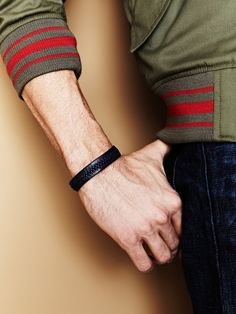 Stitched Leather Bracelet by Chan Luu Men's on Gilt