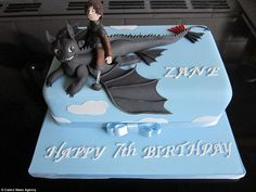 A detailed cake depicting How to Train your Dragon characters baked byCarole Gregory, 68, from Rugeley, Staffordshire