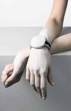 Chunky Minimalist Bangle - bold simplicity, statement jewellery // Maison Martin Margiela