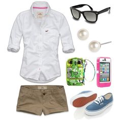 Casual Summer Outfit -- but why put the iPhone in to it? For real?