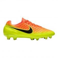 De #Nike #Magista Orden FG Total Crimson Black Volt Citrus #voetbalschoenen zijn geschikt voor natuurgras voetbalvelden.