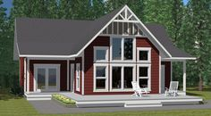 The Summit - Prefab Cabin and Cottage Plans | Winton Homes