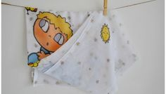 Muselina personalizada niño durmiendo sobre nube