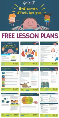 Free lesson plans worksheets activities games and resources to teach kids about alcohols affect on the developing brain If youre a teacher counselor or school admin these. Health Lesson Plans, Science Lesson Plans, Teacher Lesson Plans, Free Lesson Plans, Science Worksheets, Science Activities, High School Health Lessons, Middle School Health, School Counselor Lessons
