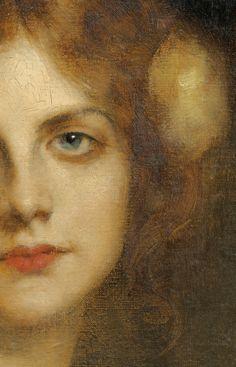 "Edgar Maxence (French, 1871-1954), ""Portrait de femme""."
