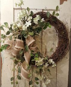 Items similar to BEST SELLER Front door wreath, Greenery Wreath – Wreath Great for All Year Round, Everyday Burlap Wreath, Door Wreath, Front Door Wreath on Etsy – Grapevine Wreath İdeas. Summer Door Wreaths, Fall Wreaths, Christmas Wreaths, Mesh Wreaths, Floral Wreaths, House Front Door, Front Door Decor, Front Door Wreaths, Door Entry