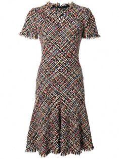 fbb6d1c89b Alexander McQueen tweed A-line dress #AlexanderMcQueen Retouche Vetement,  Mode Vetement, Mode