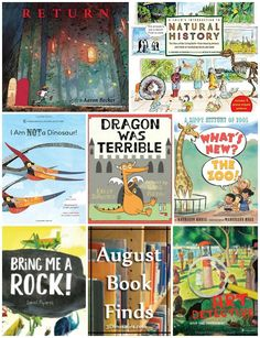 August 2016 Book Finds: history, dragons, wordless books, zoos, bugs, art works…