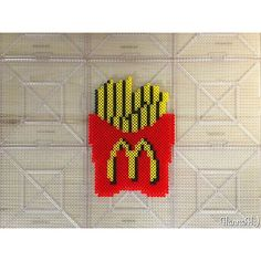 French fries McDonalds perler beads by hannah