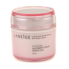 Multiberry Yogurt Repair Pack - Laneige - Cleanser - 80ml/2.6oz by Laneige. $29.40. Original 100% Authenitc. Multiberry Yogurt Repair Pack. 80ml/2.6oz. Image shown may not be true representation for size of this product, please refer to the size stated in the above product title, or to description below!. An intensely nourishing reparative treatment With a supple, fresh creamy texture of yogurt Formulated with Sogurty TM, a specialized fermented yogurt to enco...
