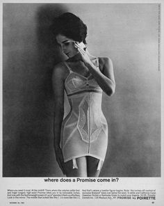 October 1961 and a rather firm-looking, yet pretty and feminine high-waisted girdle from Poirette.