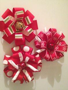 holiday season hairbows